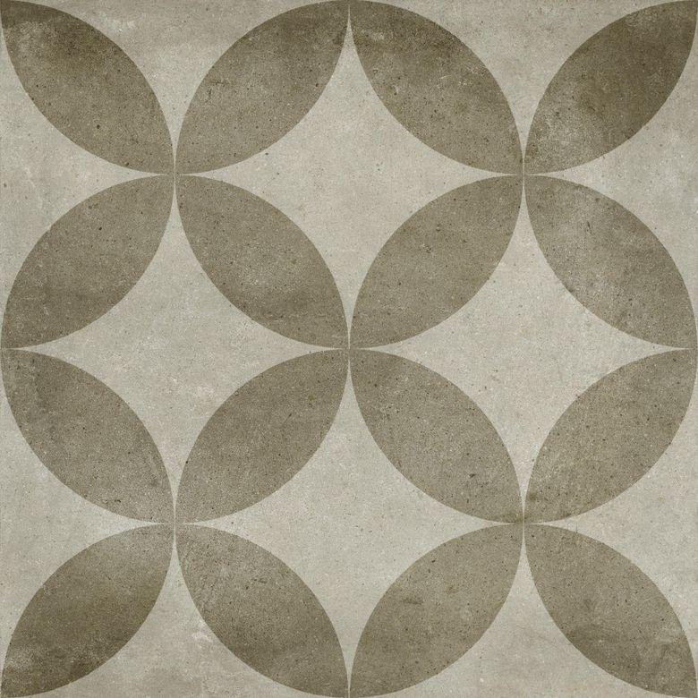 Carrelage DOMAINE décor blanc 20×20 aspect naturel Lapeyre