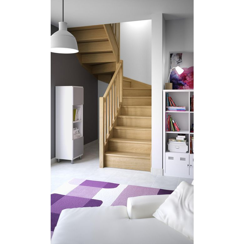 escalier deux quart tournant lapeyre. Black Bedroom Furniture Sets. Home Design Ideas