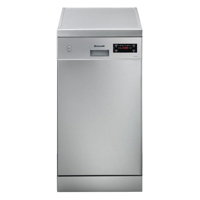 Lave-vaisselle pose libre inox Brandt DFS1010X