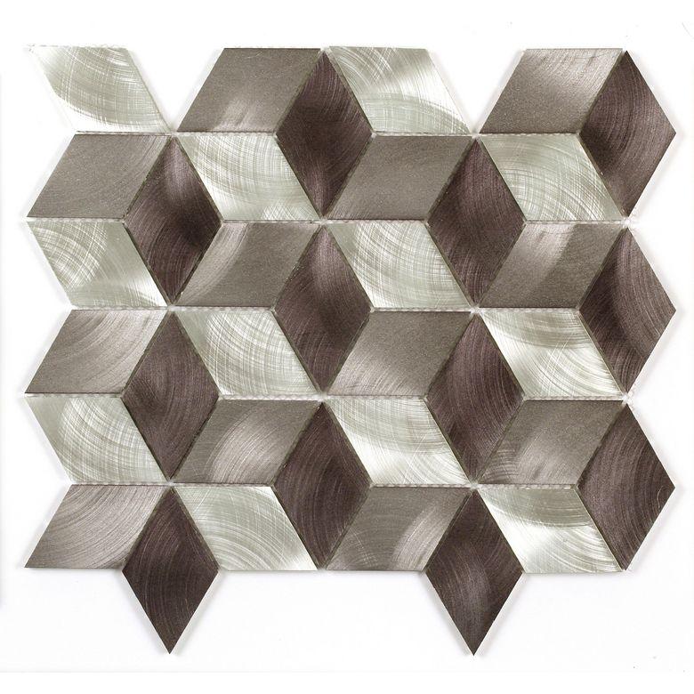 Carrelage mosaique rhodium cubes 30 x 30 cm sols murs Lapeyre carrelage mosaique
