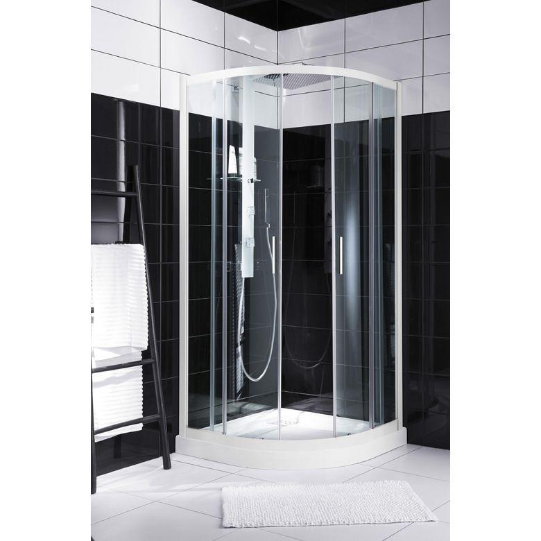 Acc s d 39 angle par porte coulissante arrondie rubis salle de bains - Porte coulissante arrondie ...
