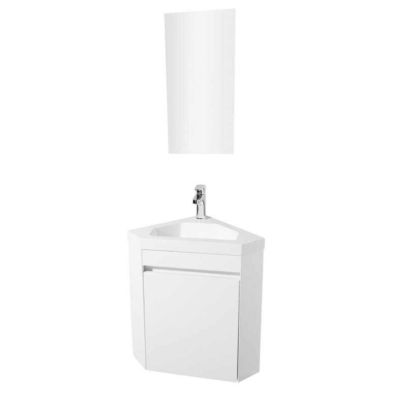 Meuble lave main korner salle de bains for Meuble wc alinea