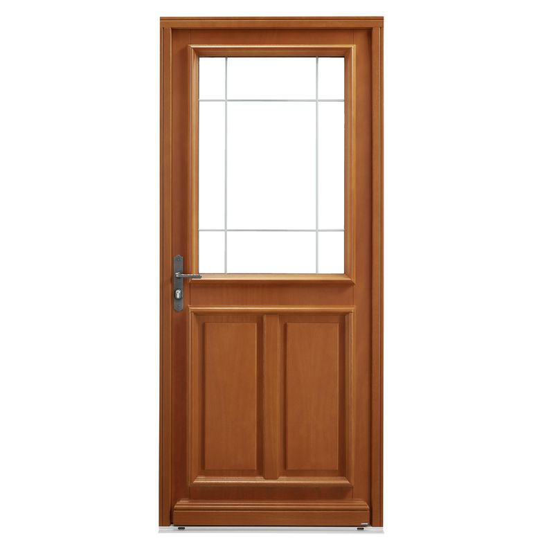 Porte d 39 entr e morlanne bois exotique portes - Porte d entree bois exotique ...