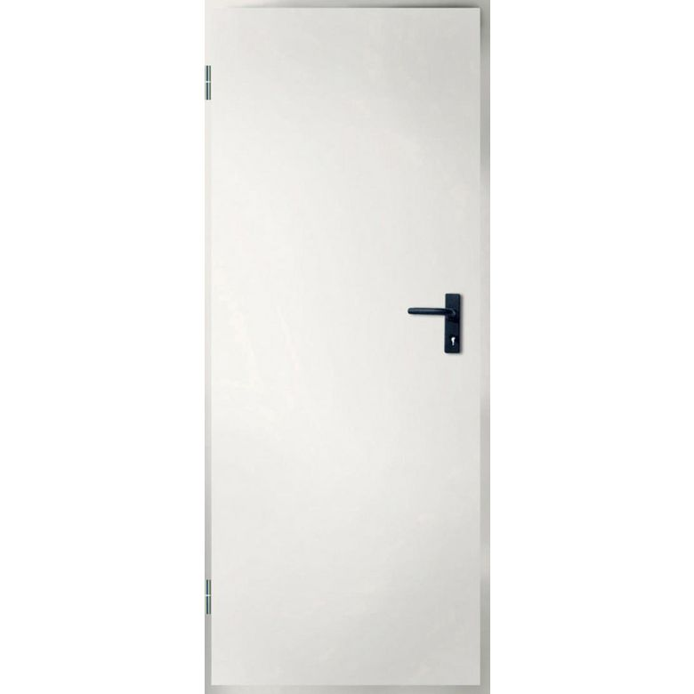 Porte de service isolante m tallique double paroi en for Porte metallique de service