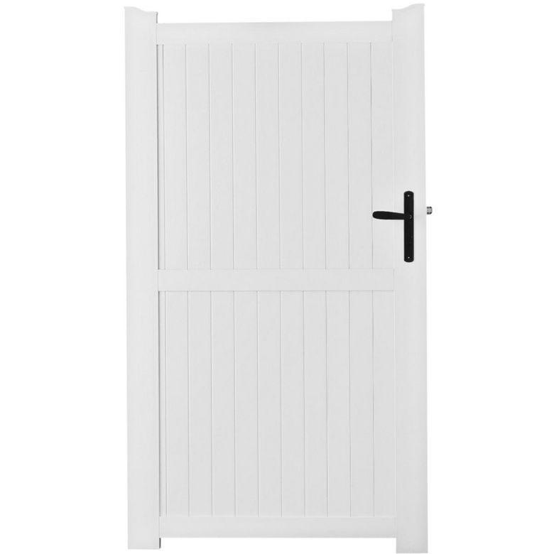 Portillon pvc guernesey ext rieur for Prix portillon pvc
