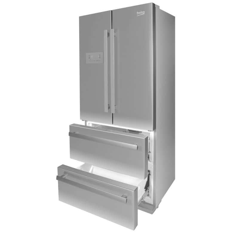 Réfrigérateur congélateur combiné pose libre inox Beko GNE6039XPN