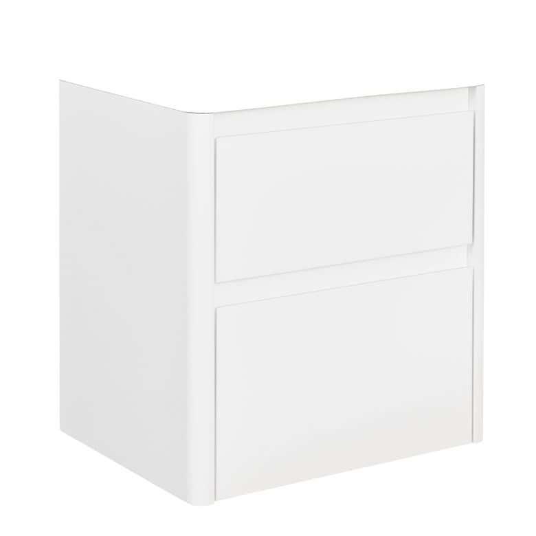 Sous vasque 2 tiroirs arronde gris foncé l.120 cm