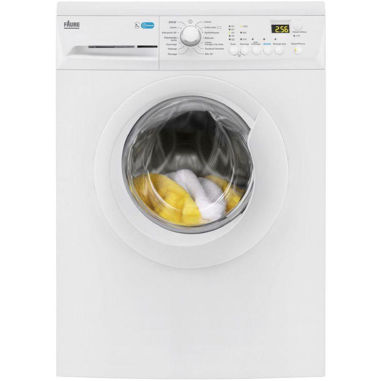 Lave-linge pose libre front blanc Faure FWF7125PW