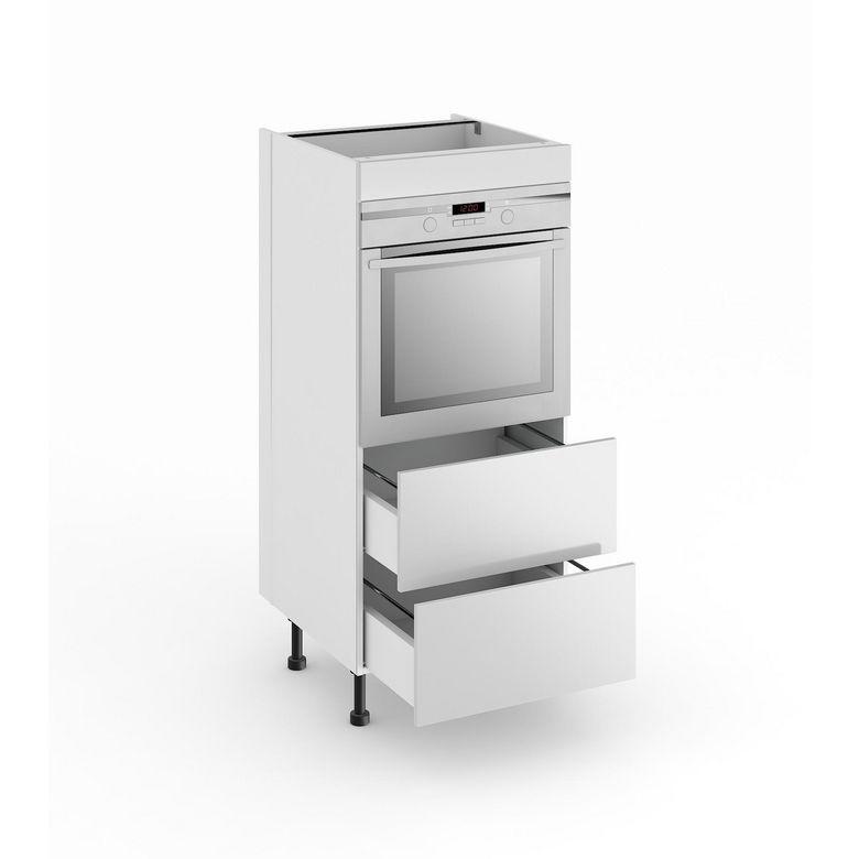 Demi colonne de cuisine pour four avec 2 tiroirs origine - Colonne de rangement pour cuisine ...
