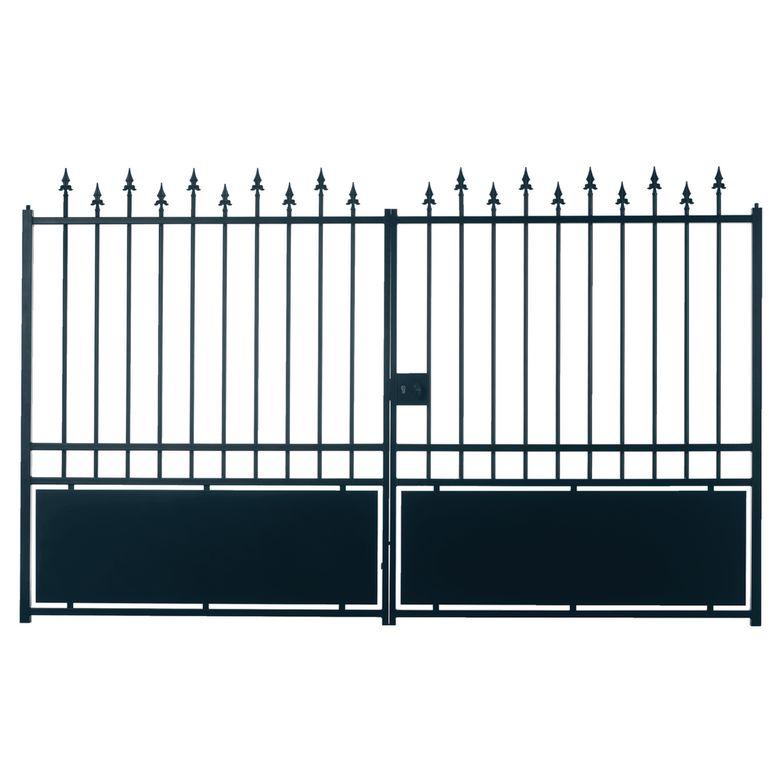 Bien choisir un portail battant acier pas cher conseils for Pack portail portillon