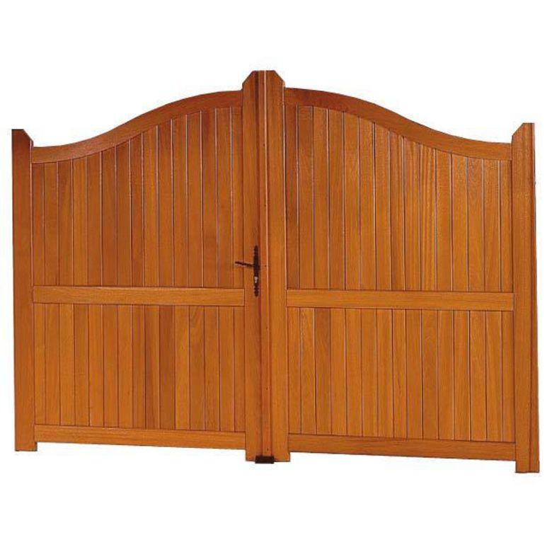 Portail battant bois roquebrune ext rieur for Bois pour portail exterieur