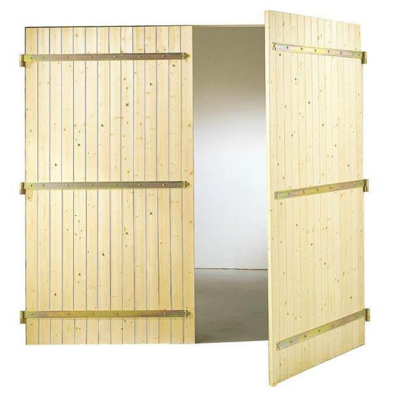 Porte de garage bois battante ext rieur for Porte de garage battante