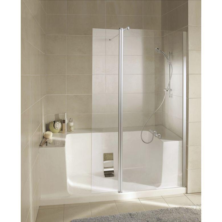 Remplacement de baignoire en niche facilot salle de bains - Salle de bain italienne lapeyre ...