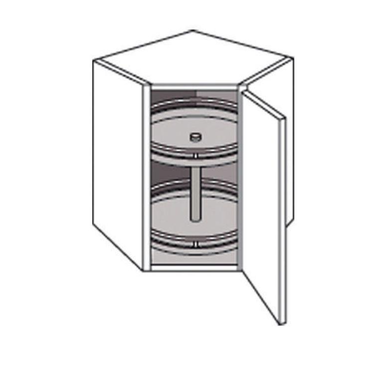 Meuble de cuisine haut d 39 angle avec 2 plateaux twist cuisine for Meuble cuisine haut