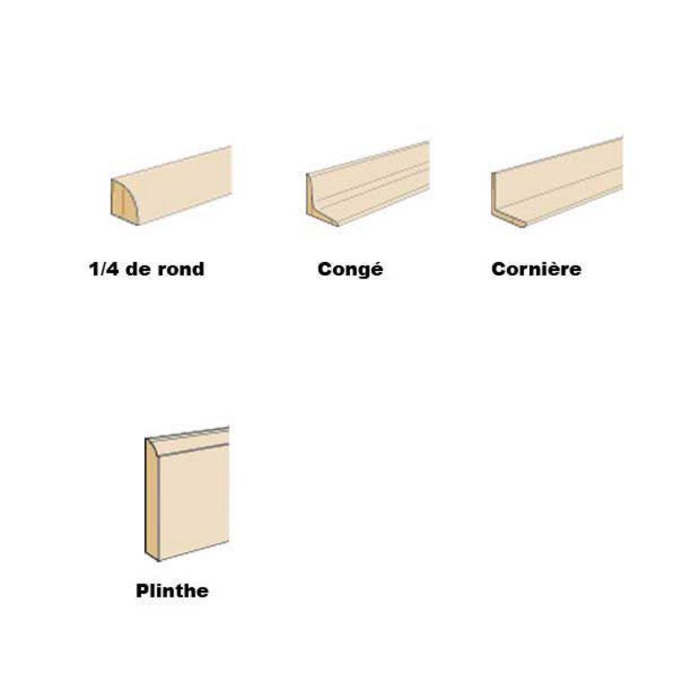 Lapeyre plinthe bois table de lit for Table quart de rond