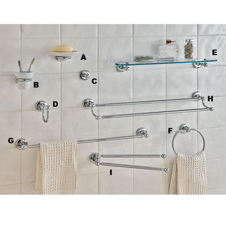 Accessoires salle de bain en crochet salle de bains - Accroche serviette salle de bain ...
