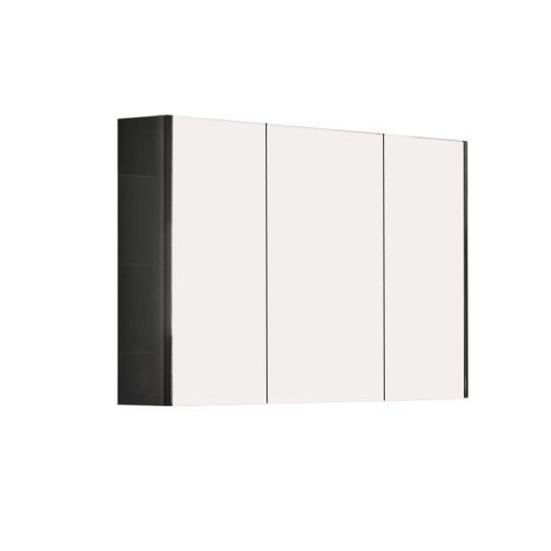 armoire de toilette triptyque l 80 cm gloss salle de bains. Black Bedroom Furniture Sets. Home Design Ideas