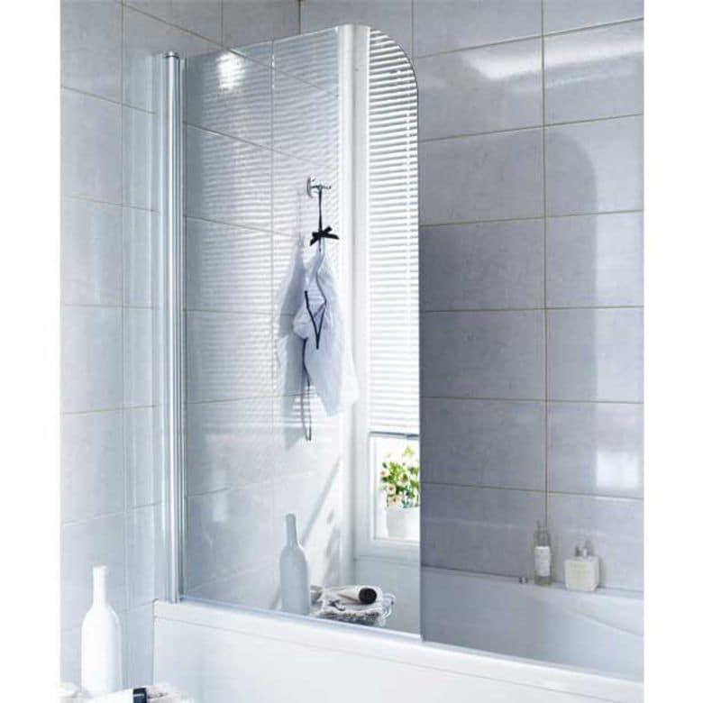 Ecran de baignoire en verre miroir gauche tokyo salle de for Miroir pour douche