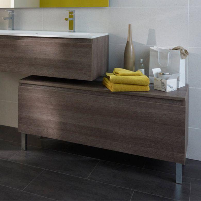 Pieds pour meuble sous vasque h 46 cm evasion bain for Meuble salle de bain sous vasque a poser
