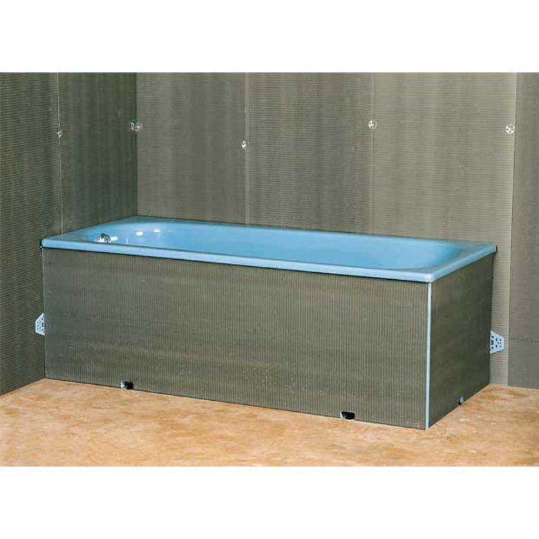 Tablier pour baignoire droite salle de bains for Baignoire salle de bain tablier