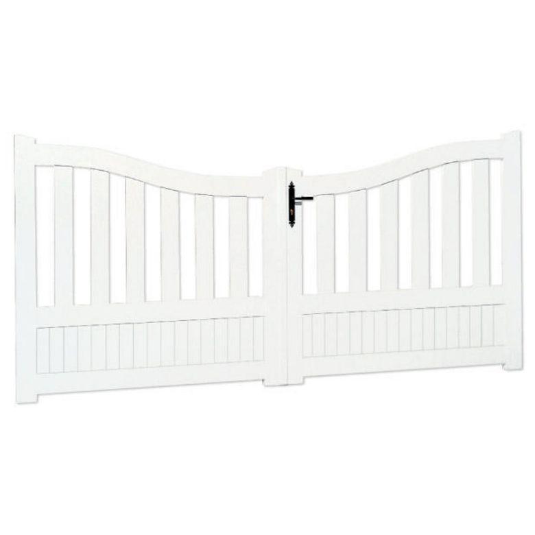 bien choisir un portail battant pvc pas cher conseils et prix. Black Bedroom Furniture Sets. Home Design Ideas