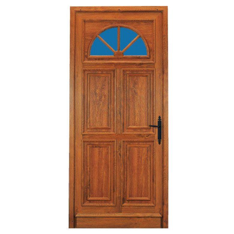 Porte d 39 entr e chenonceau pvc d cor bois portes for Porte de service pvc prix