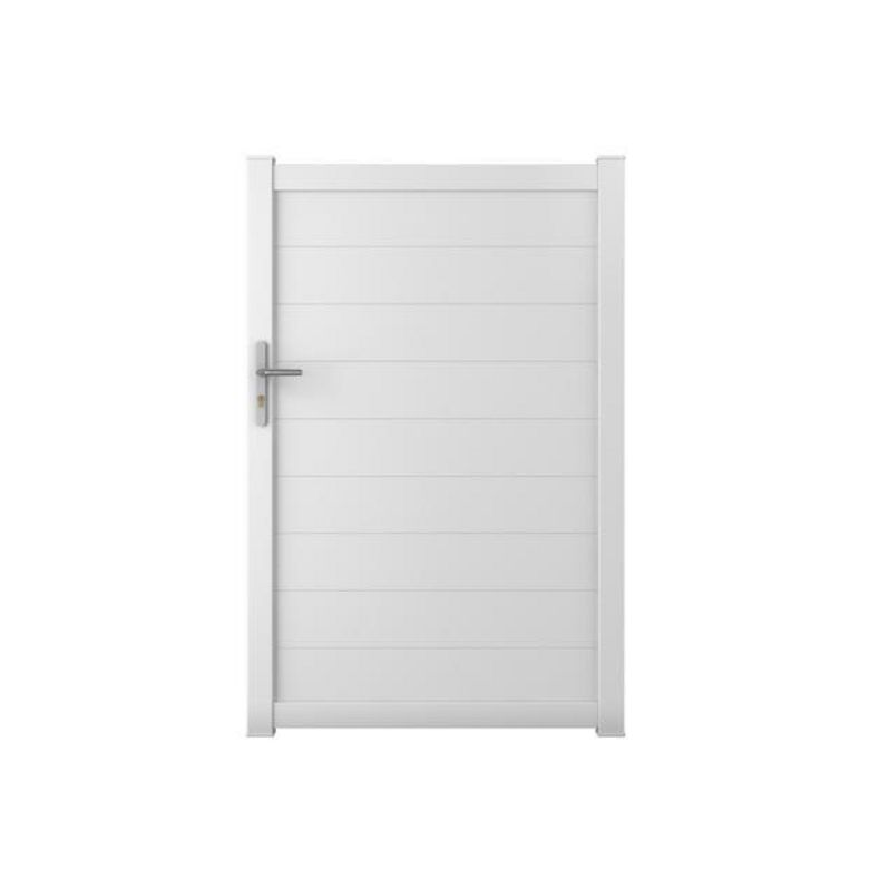 Portillon aluminium bari ext rieur for Portillon de jardin blanc