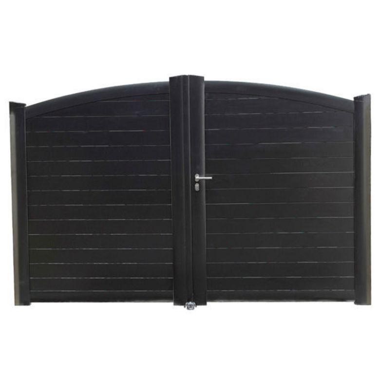 Portail Battant Aluminium Rialto Moteur Int Gr Ext Rieur