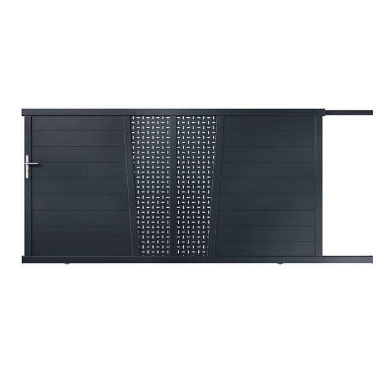 portail aluminium lapeyre. Black Bedroom Furniture Sets. Home Design Ideas