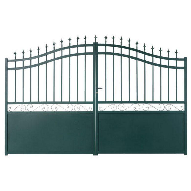 bien choisir un portail battant aluminium pas cher conseils et prix. Black Bedroom Furniture Sets. Home Design Ideas