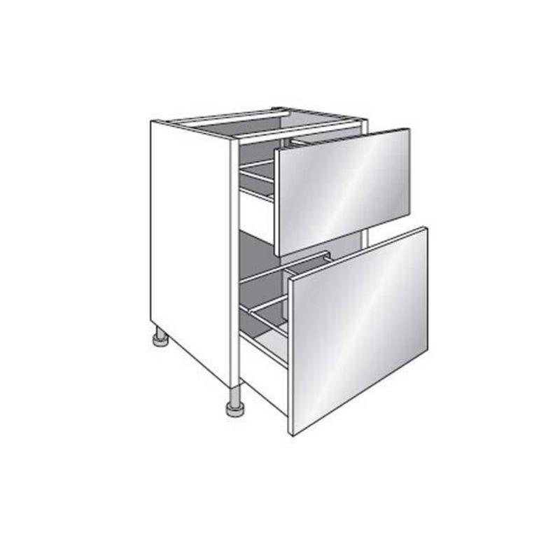 Meuble de cuisine bas range casseroles avec 2 tiroirs for Meuble a plusieurs tiroirs