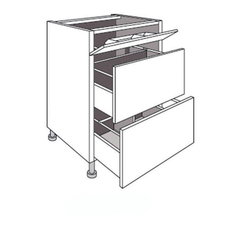 Meuble de cuisine sous vier 2 tiroirs urban cuisine for Meuble sous evier de cuisine