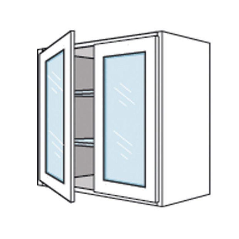 Meuble haut cuisine porte vitree avec etage for Meuble haut porte vitree ikea