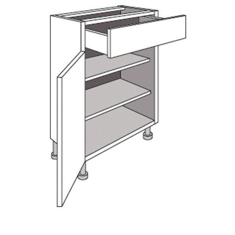 Meuble de cuisine bas cm 1 porte 1 tiroir urban cuisine for Porte meuble cuisine lapeyre