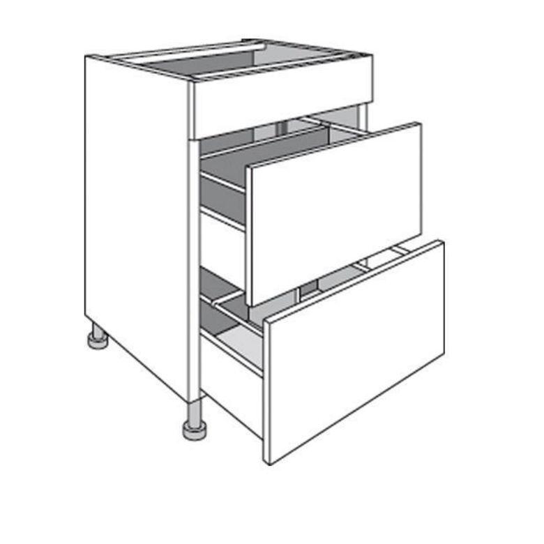 Meuble de cuisine range casseroles avec 1 faux tiroir - Fixer un plan de travail sans meuble ...