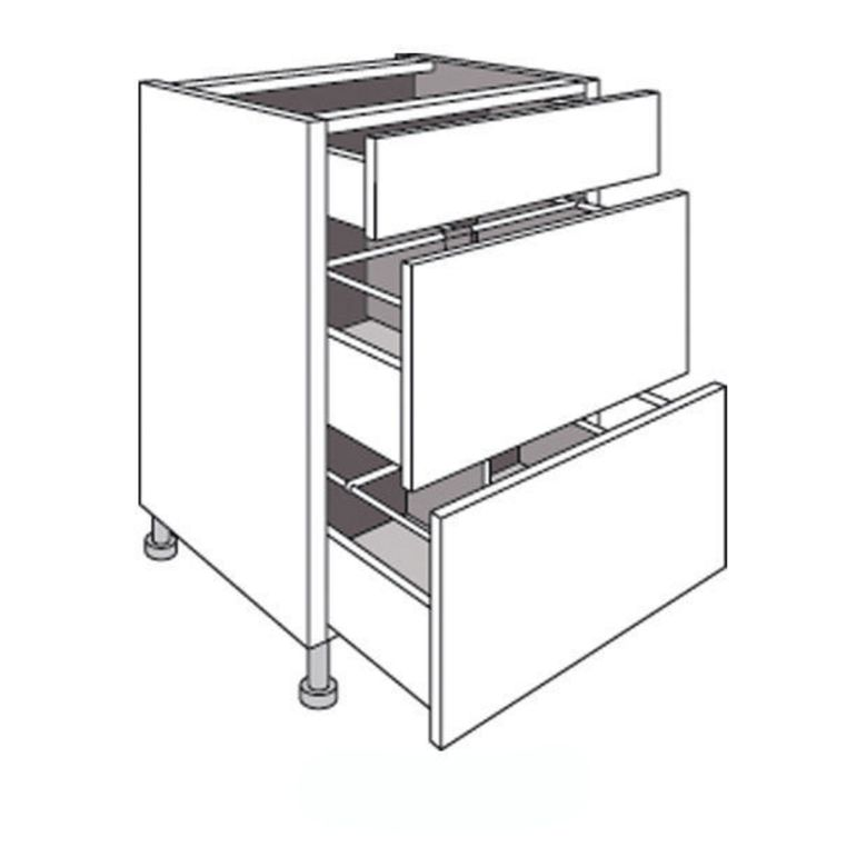Meuble de cuisine 2 tiroirs range casseroles avec 1 tiroir for Meuble cuisine dimension