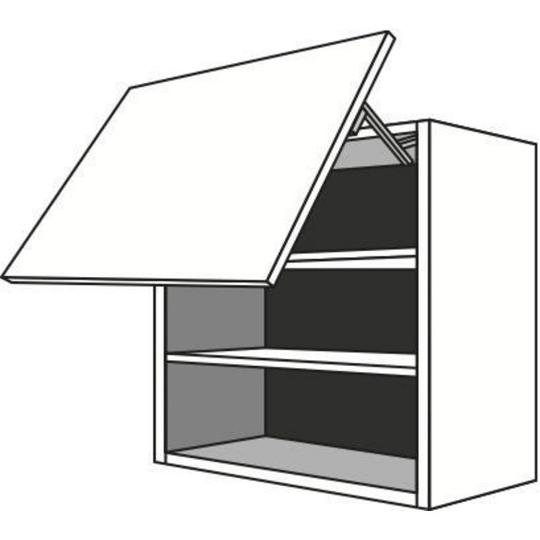 Meuble de cuisine haut 1 porte basculante 2 tablettes for Meuble une porte