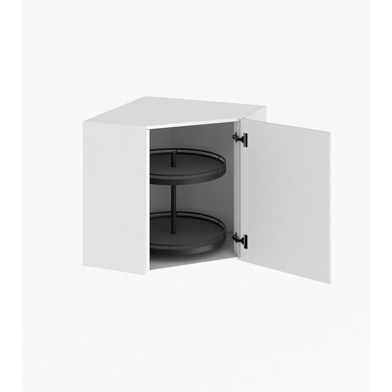 Meuble de cuisine haut d 39 angle avec 2 plateaux cuisine - Meuble haut d angle ...