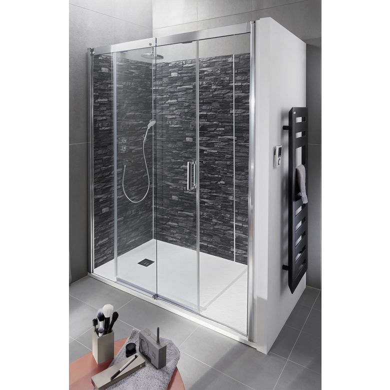 porte de douche coulissante version gauche access salle. Black Bedroom Furniture Sets. Home Design Ideas