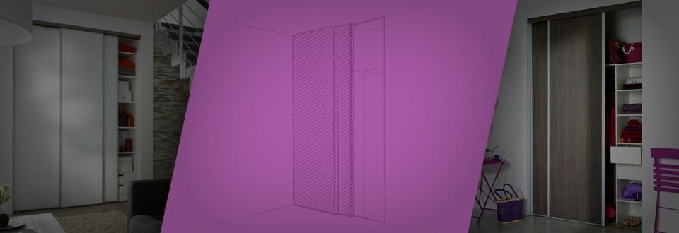 Poser des portes coulissantes en applique - Transformer une porte en porte coulissante ...