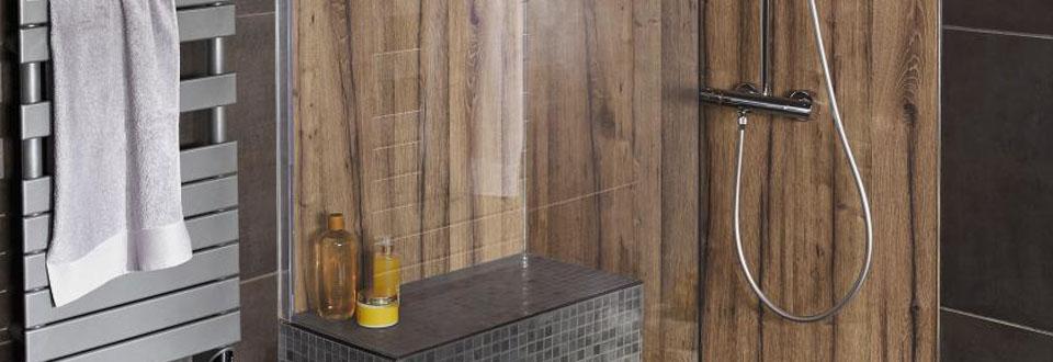 Les solutions de douche sur mesure for Porte de douche sur mesure castorama