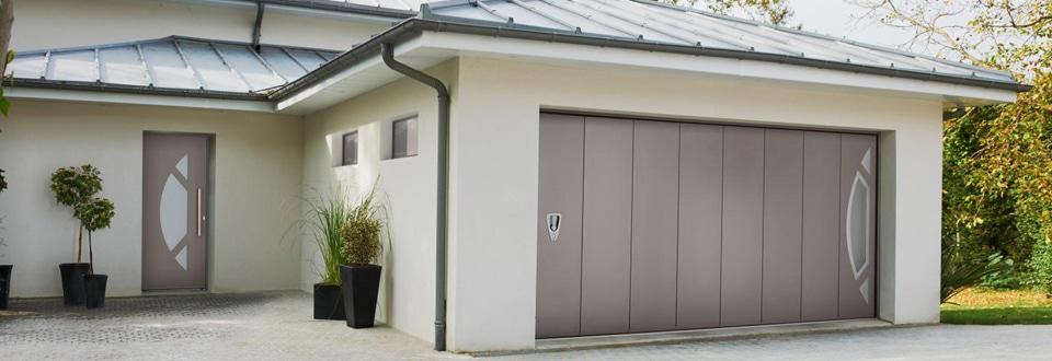 Porte garage pliante isolante - Porte de garage pliante 4 vantaux ...