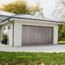 Porte de garage landon pliante bois exotique avec grilles for Lapeyre porte accordeon