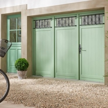 Porte De Garage Pvc Coulissante Avec Lucarne Ext Rieur