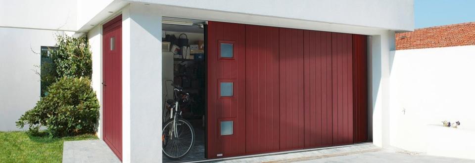 Les portes de garage coulissantes - Porte de garage coulissante isolee ...