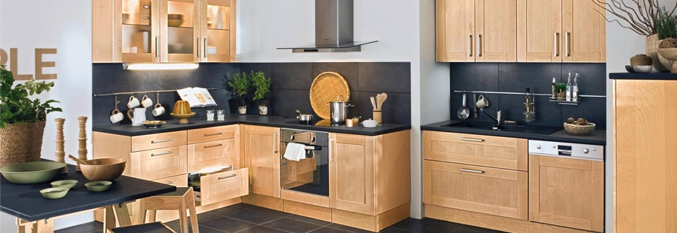 Les meubles de cuisine en bois for Meuble de cuisine lapeyre