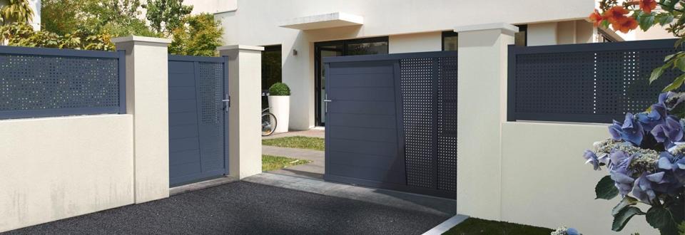 Lapeyre portail aluminium id es de conception sont int ressants votre d cor - Lapeyre portail coulissant alu ...