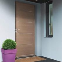 porte d 39 entr e adaptable vitrer 1 vantail bois exotique portes. Black Bedroom Furniture Sets. Home Design Ideas