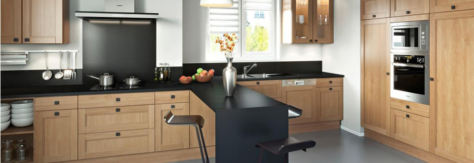Une cuisine en bois ouverte sur votre s jour - Cuisine bois blanchi ...