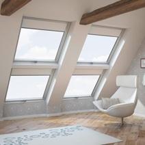 fen tre de toit velux tout confort blanche projection. Black Bedroom Furniture Sets. Home Design Ideas